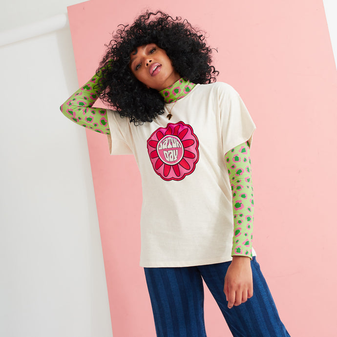 The Primrose Flower Motif T-Shirt