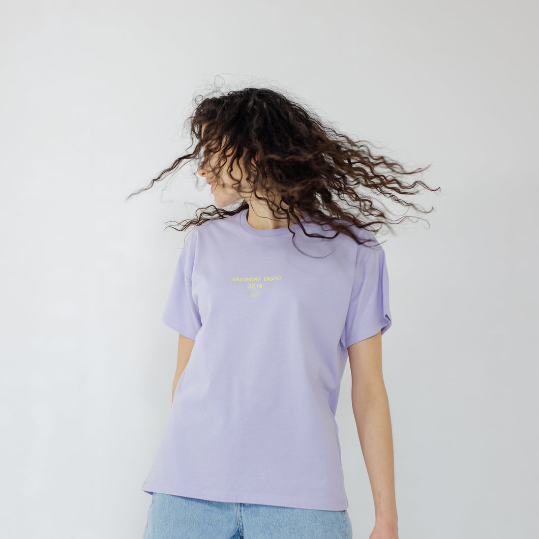 The Saturday Disco Embroidered Slogan T-Shirt