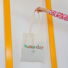 Load image into Gallery viewer, Saturday By Megan Ellaby Tote Bag
