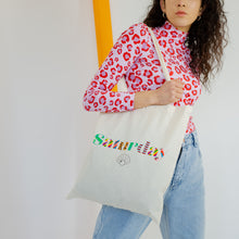 Load image into Gallery viewer, Saturday By Megan Ellaby Printed Tote Bag