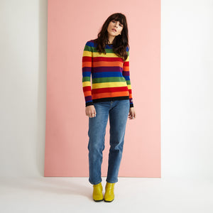 The Rainbow Stripe Knit Jumper