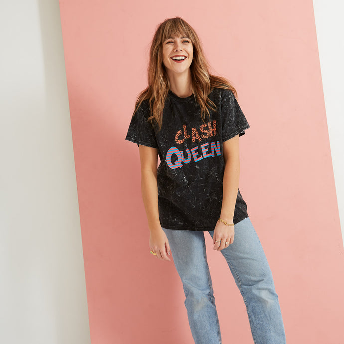 Saturday By Megan Ellaby The Clash Queen  T-Shirt