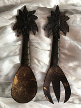 Palm Tree Wooden Salad Servers