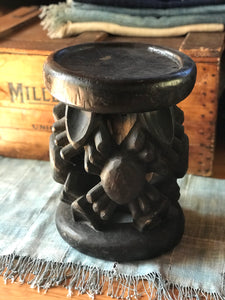 Vintage African Tribal Wooden Spider Stool