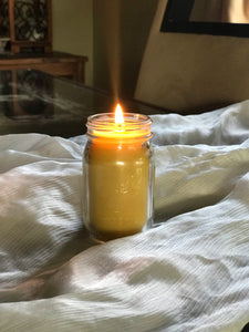 Beeswax Mini Mason Jar Candle