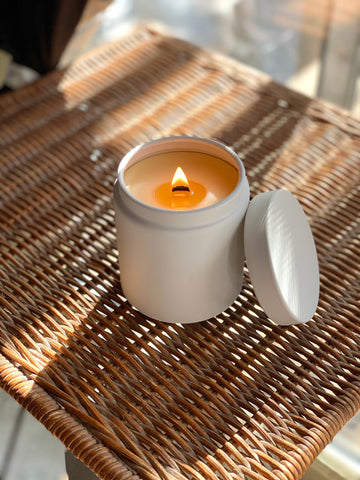 Beeswax Aromatic Candle | Chic White Tin | 9.5 oz.