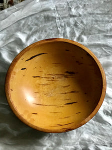 Antique Primitive Wooden Bowl - large