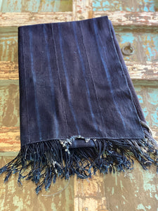 Vintage African Indigo Denim Mossi Mudcloth Throw | No. 17