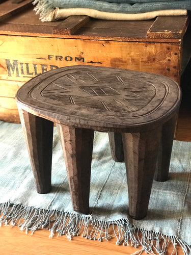 Vintage African Handmade Wooden Nupe Stool