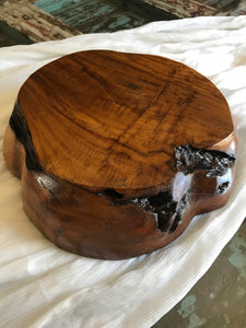 Chunky Teak Wood Bowl
