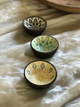 Hand Painted Mini Wood Bowl | Yellow