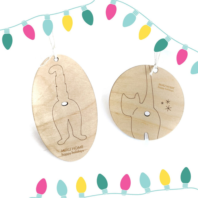 Mjau Home Holiday Ornament (set of 3) Modular Cat Furniture Mjau Home Modern Cat Furniture