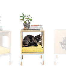 Load image into Gallery viewer, Modular Mjau Haus Modular Cat Furniture Mjau Home Modern Cat Furniture Single Cube Without Bed Sunbeam Yellow