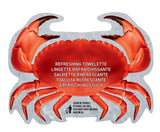 2 Packs of 15 Crab Shaped Wet Wipes in Fish Net Packaging - Ouulala