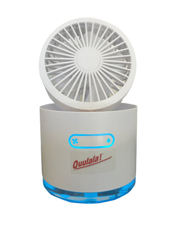 1 WHITE MINI FAN WITH MIST & NIGHT LIGHT