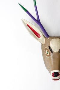 Deer Carnival Dance Mask HandCarved Wooden from Carpinteros #2
