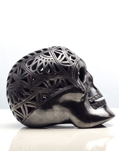Skull Head in Black Pottery