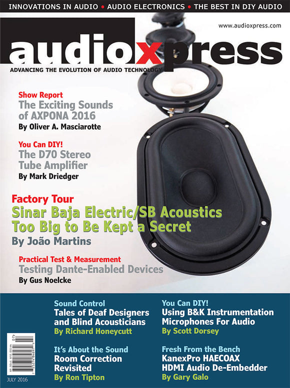 audioXpress July 2016 - CC-Webshop