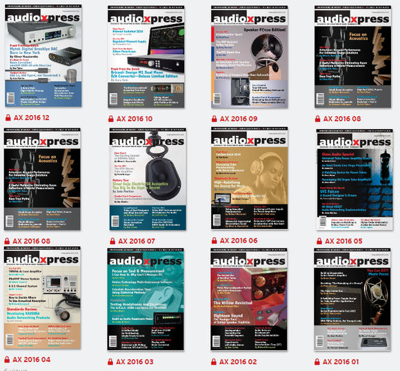 audioXpress 2016 Archive - Digital Subscription