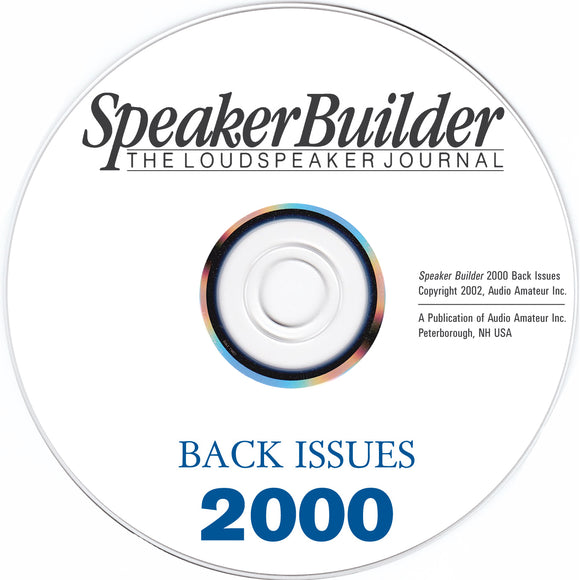 Speaker Builder 2000 Back Issues on CD - CC-Webshop