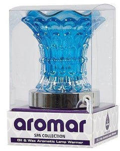Aromar - Blue glass electric oil warmer/burner