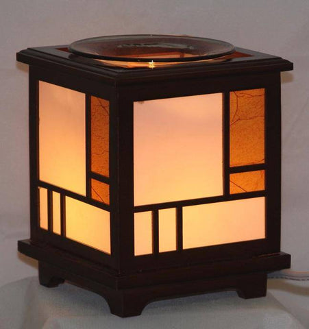 Wood Lantern Electric Oil Warmer