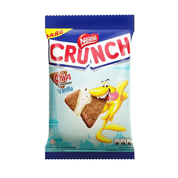 NESTLE CRUNCH Chips Vanila 20x60g 1 Ctn (Isi 20 pcs)