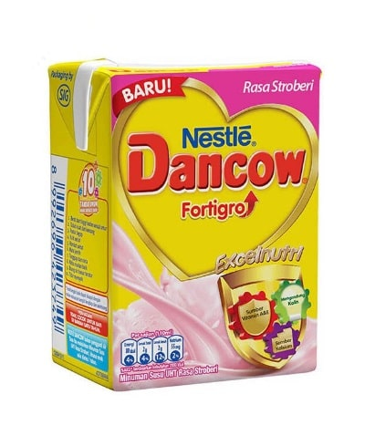 Dancow Strawberry Actigo UHT 110ml 1 Ctn (Isi 36 pcs)