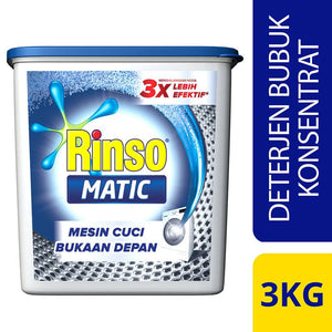 Rinso Matic Front Load 3kg 1 Ctn (Isi 4 pcs)