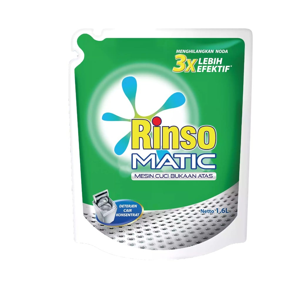 Rinso Matic Top Load 65ml 1 Ctn (Isi 72 pcs)