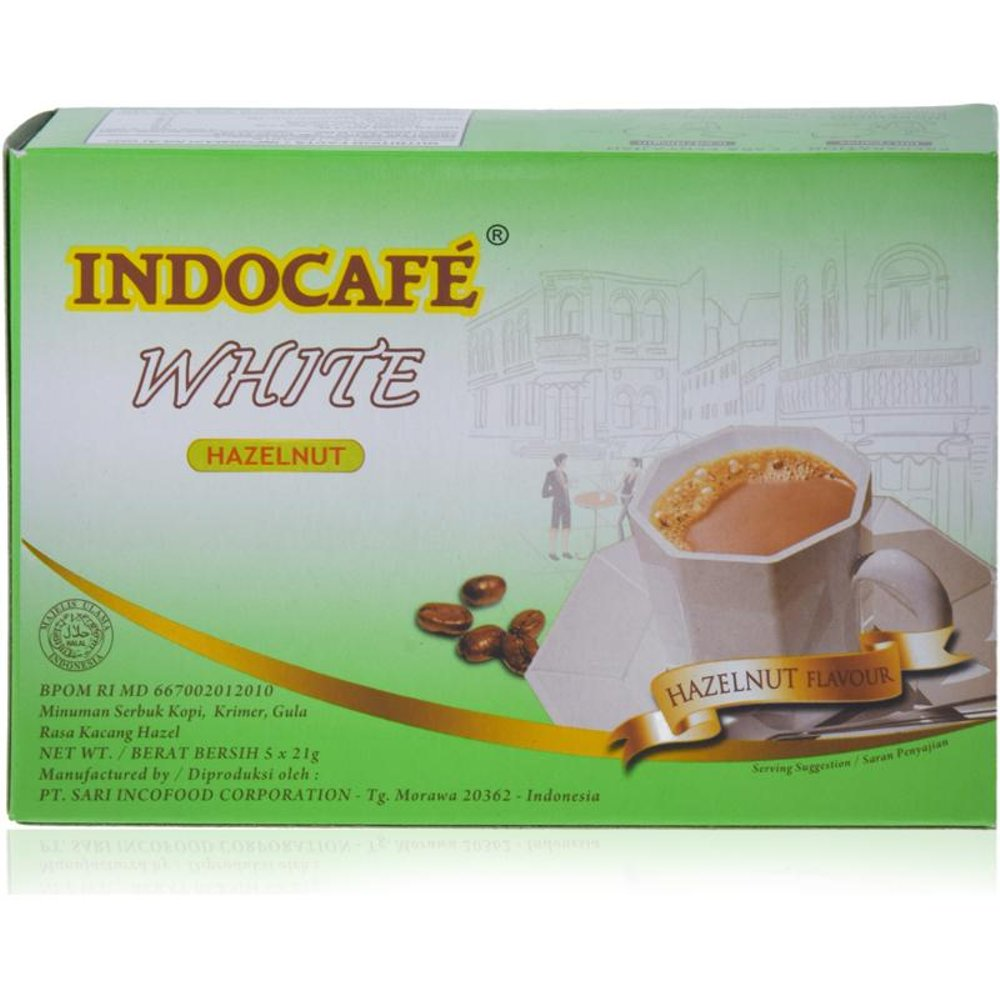 Indocafe White  Hazelnut  10x21g