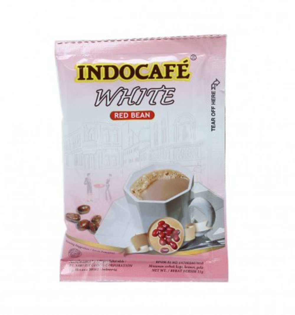 Indocafe White  Red Bean 10x21g