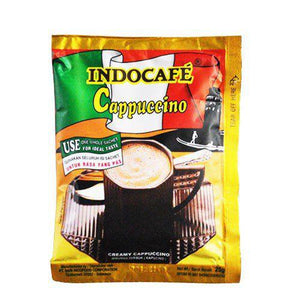 Indocafe Cappucino Perforated 50x25g 1 Ctn (Isi 250 pcs)