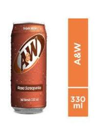 A&W SARSAPARILA 330 ml 1 Ctn ( Isi 24 Pcs)
