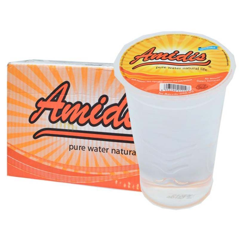 Amidis Air Mineral Cup 48 X 240 ML 1 Ctn ( Isi 48 pcs)
