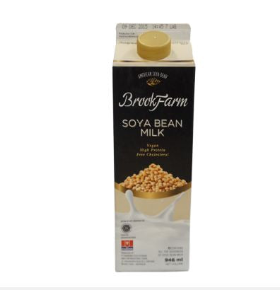 BrookFarm Fresh Milk Soya 946ml 1 Ctn (Isi 6 pcs)
