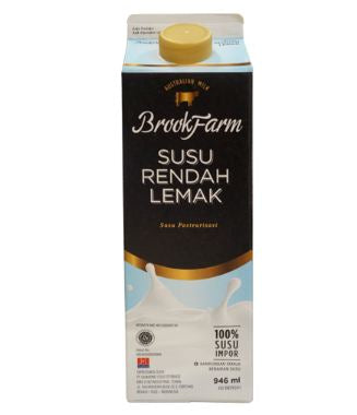 BrookFarm Fresh Milk Low Fat 946 ml 1 Ctn
