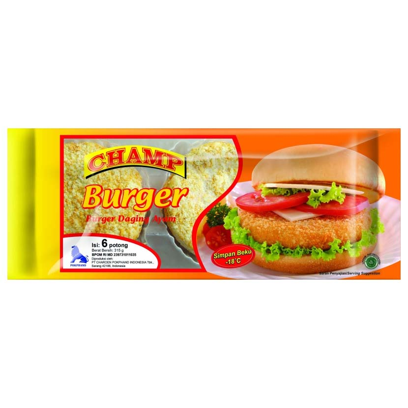 Champ Burger 315gr 1 Ctn (Isi 10 pack)