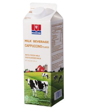 Diamond Fresh Milk Cappuccino 946 ml 1 Ctn (Isi 6 pcs)