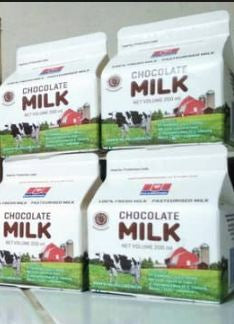 Diamond Fresh Milk Chocolate 200 ml 1 Ctn (Isi 12 pcs)