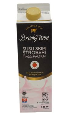 BrookFarm Fresh Milk strawberry 946 ml 1 Ctn