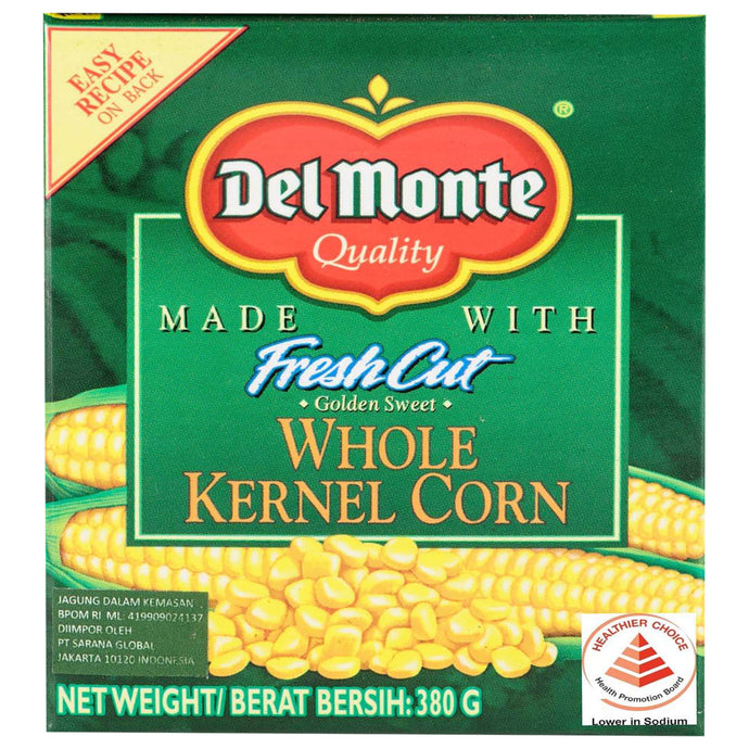 Del Monte Whole Corn Tetra 380 Gr 1 Ctn (Isi 24 Pcs)