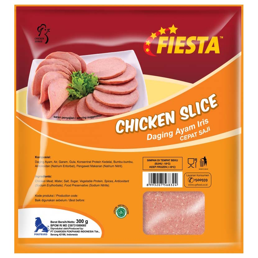 Fiesta Chicken Slice 300gr 1 Ctn (Isi 20 pack)