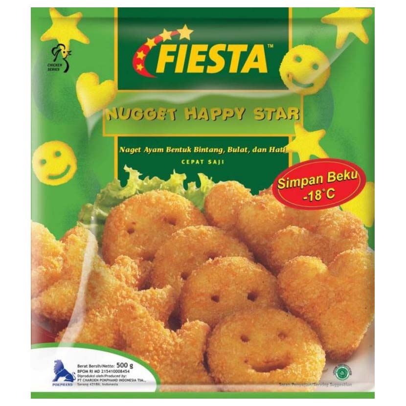 Fiesta Nugget Happy Star 500gr 1 Ctn (Isi 10 pack)