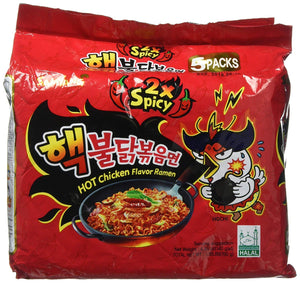Hot Chicken Ramen 2X Spicy Pack @5 Pcs