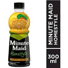 Minute Maid Pet Homestly Orange 300ml 1 Ctn (Isi 12 pcs)