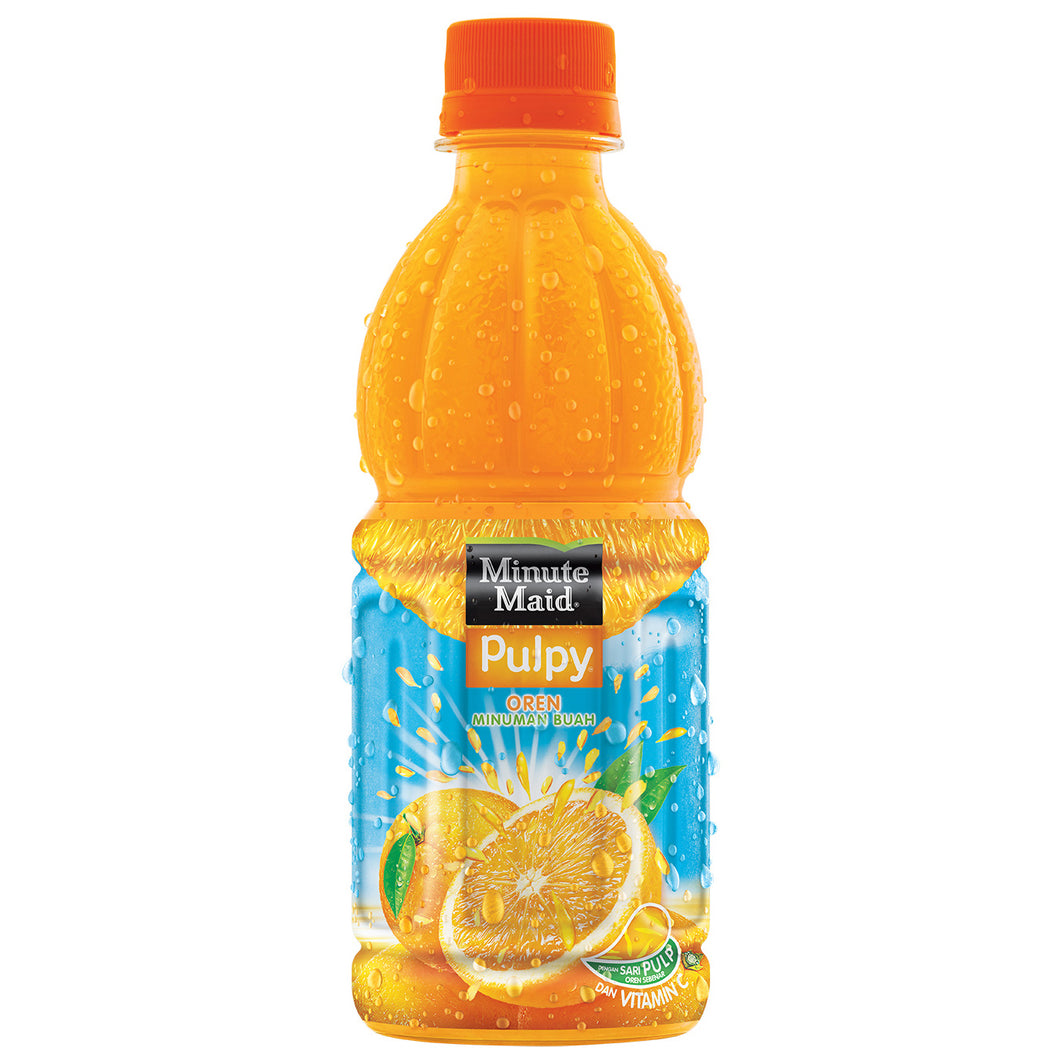 Minute Maid Pulpy Orange 300 ML Ctn (Isi 12 pcs)