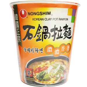 Nong Shim Clay Pot Korean 70 gr ( 1 Karton isi 24 Pcs )