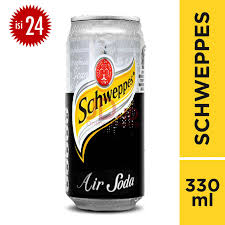 SCHWEPPES SODA WATER 330ml 1 Ctn (Isi 24 pcs)