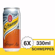 Schweppes Ginger Ale 330ml 1 Ctn (Isi 24 pcs)